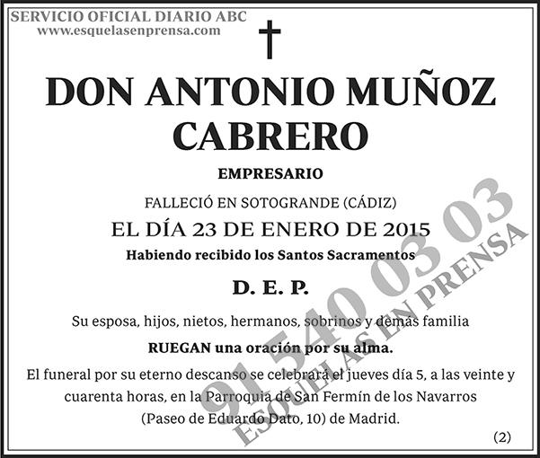 Antonio Muñoz Cabrero